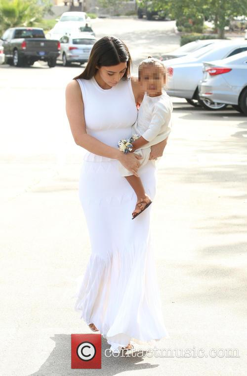 Kim Kardashian and North West 7
