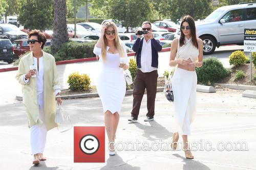The extended Kardashian-Jenner family attend church in Woodland...