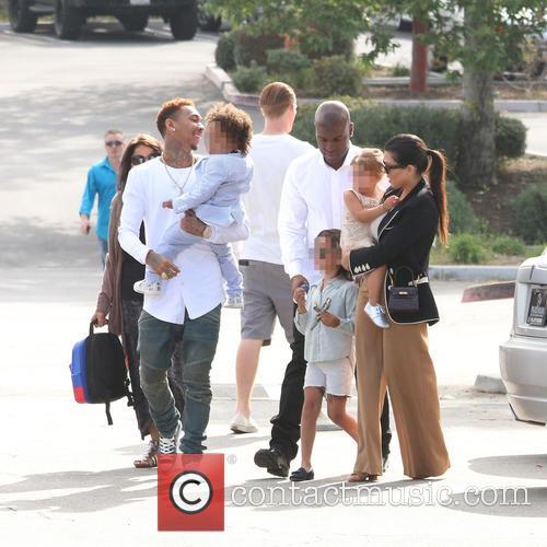Tyga, King Cairo Stevenson, Corey Gamble, Mason Disick, Penelope Disick and Kourtney Kardashian 2