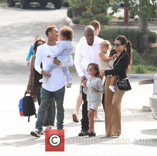 Tyga, King Cairo Stevenson, Corey Gamble, Mason Disick, Penelope Disick and Kourtney Kardashian 4