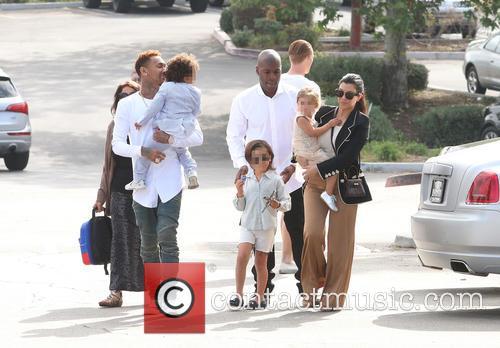 Tyga, King Cairo Stevenson, Corey Gamble, Mason Disick, Penelope Disick and Kourtney Kardashian 8