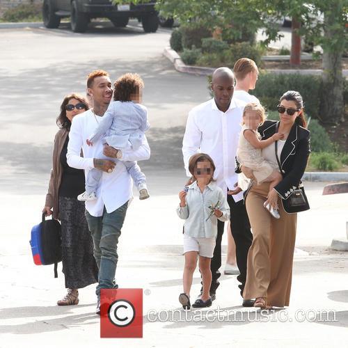 Tyga, King Cairo Stevenson, Corey Gamble, Mason Disick, Penelope Disick and Kourtney Kardashian 9