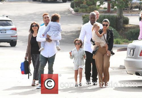 Tyga, King Cairo Stevenson, Corey Gamble, Mason Disick, Penelope Disick and Kourtney Kardashian 10