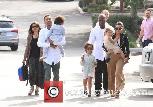 Tyga, King Cairo Stevenson, Corey Gamble, Mason Disick, Penelope Disick and Kourtney Kardashian 11