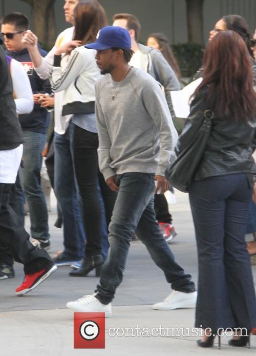 Kendrick Lamar  arrives at the Lakers v...