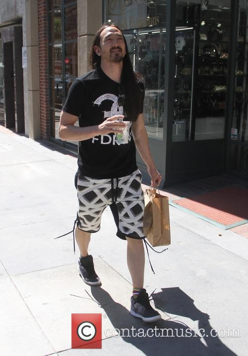 Steve Aoki out and about running errands Beverly...