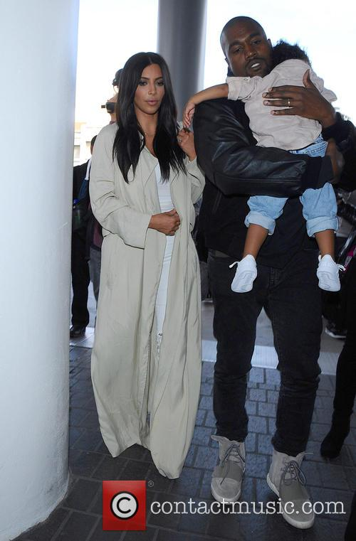 Kim Kardashian, Kanye West and North West 3