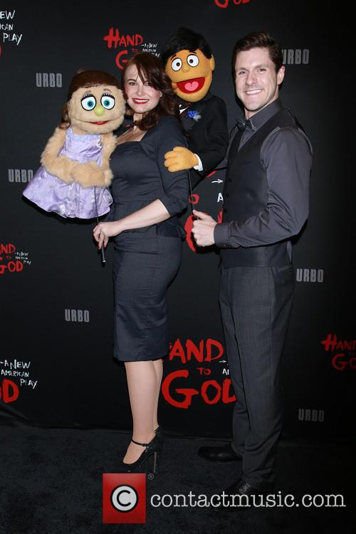 Bono, Avenue Q Cast, Kate Monster, Princeton and Seth Rothberg 2