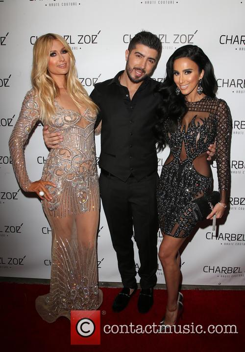 Paris Hilton, Charbel Zoe and Lilly Ghalichi 8