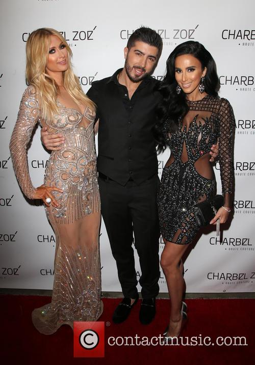 Paris Hilton, Charbel Zoe and Lilly Ghalichi 9