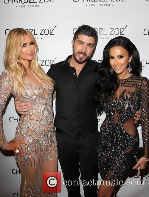 Paris Hilton, Charbel Zoe and Lilly Ghalichi 10