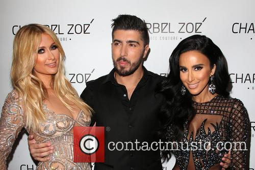 Paris Hilton, Charbel Zoe and Lilly Ghalichi 11