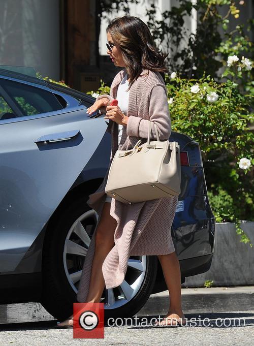Eva Longoria leaves Ken Paves Salon