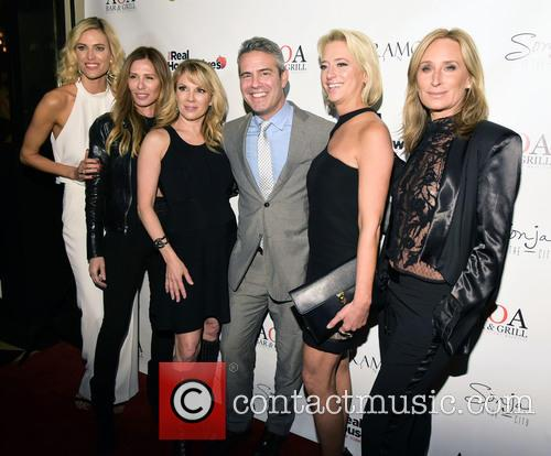 Kristen Taekman, Carol Radzwill, Ramona Singer, Andy Cohen, Dorinda Medley and Sonja Morgan 1
