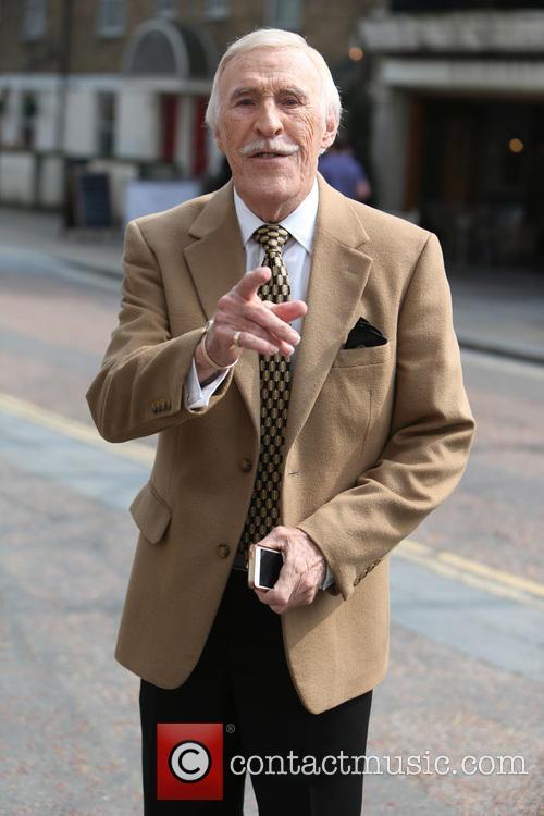 Bruce Forsyth snapped outside the ITV studios