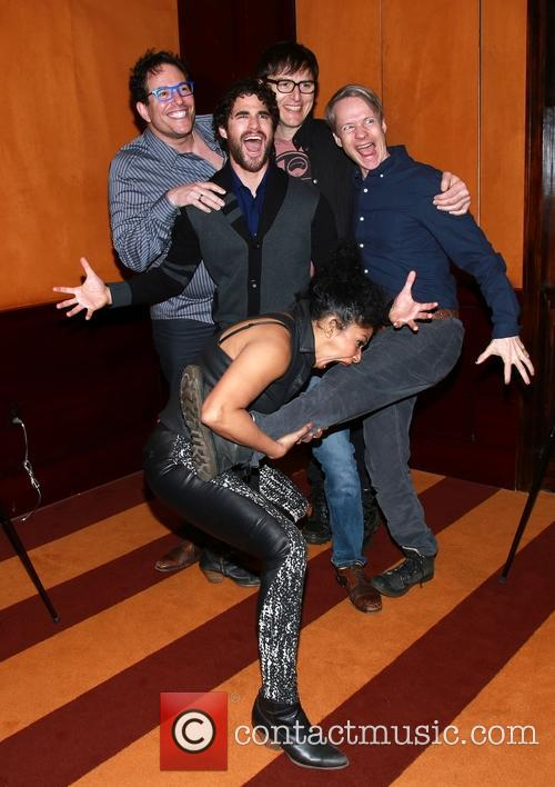 Michael Mayer, Darren Criss, Stephen Trask, John Cameron Mitchell and Rebecca Naomi Jones 5
