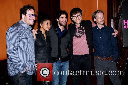 Michael Mayer, Rebecca Naomi Jones, Darren Criss, Stephen Trask and John Cameron Mitchell