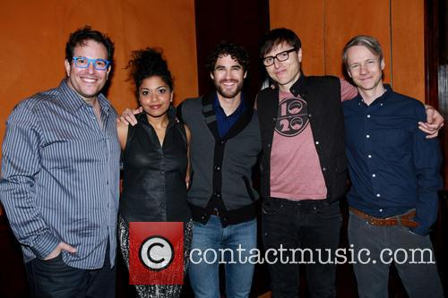 Michael Mayer, Rebecca Naomi Jones, Darren Criss, Stephen Trask and John Cameron Mitchell 1