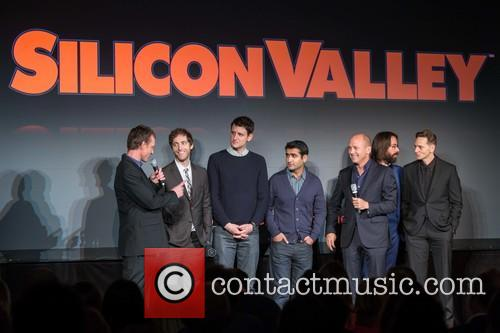 Alec Berg, Thomas Middleditch, Zach Woods, Kumail Nanjiani, Mike Judge, Martin Starr and Matt Ross