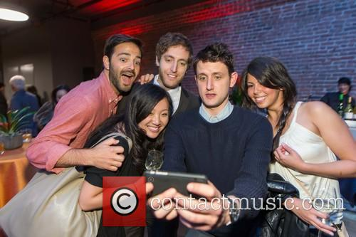 Joanne Yuan, Thomas Middleditch, Zach Woods and Nadia Eghbal 2