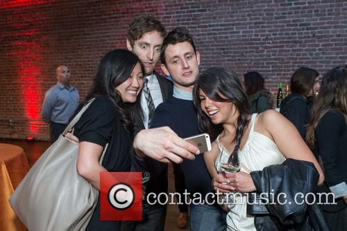 Joanne Yuan, Thomas Middleditch, Zach Woods and Nadia Eghbal 1