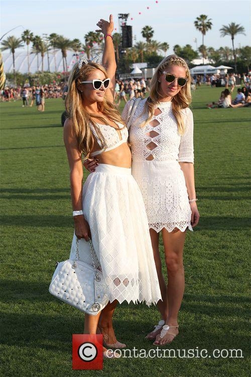 Paris and Nicky Hilton at Coachella 2015 -...