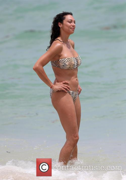 Lilly Becker spends time on Miami Beach
