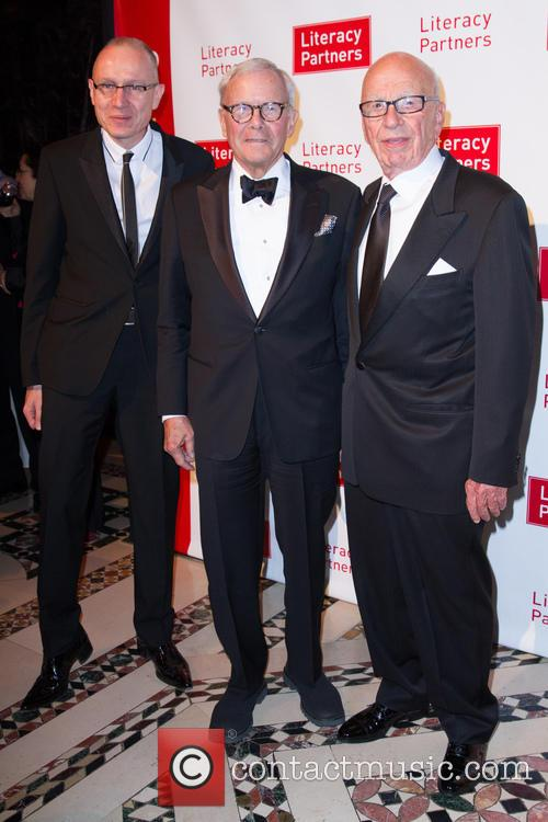Robert Thomson, Tom Brokaw and Rupert Murdoch 2