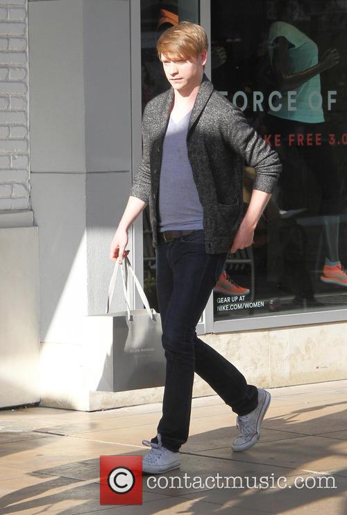 Calum Worthy goes shopping at The Grove