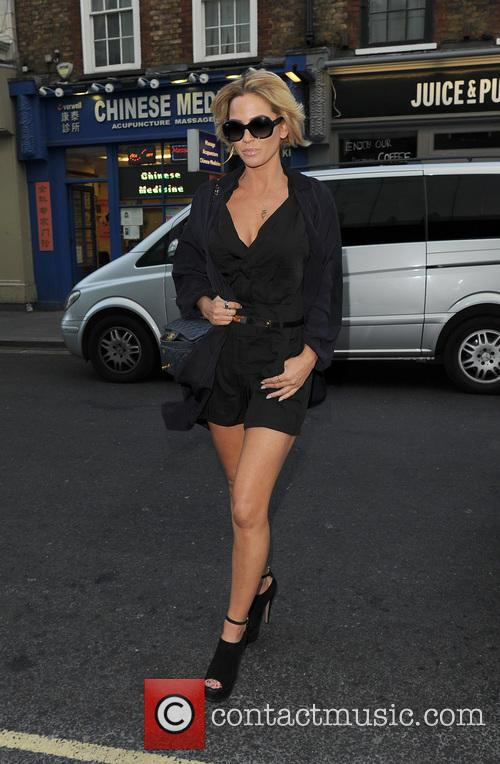 Sarah Harding arriving at the W hotel