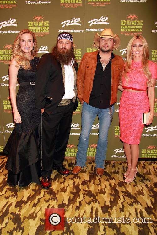Korie Robertson, Willie Robertson, Jason Aldean and Brittany Kerr Aldean 5