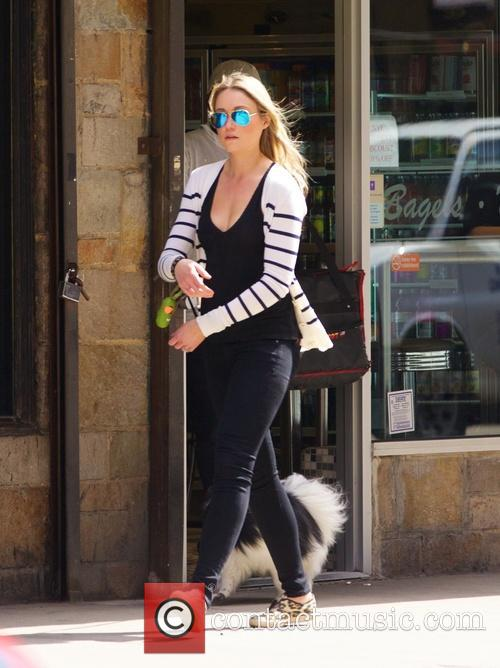 Katrina Bowden out walking her dog in New...