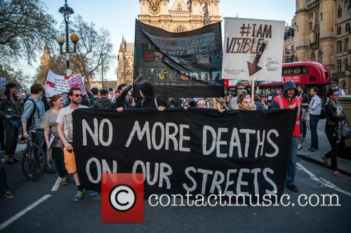 March for the Homeless protest in Central London.