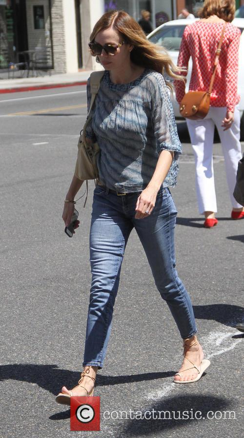 Vanessa Angel goes shopping in Beverly Hills