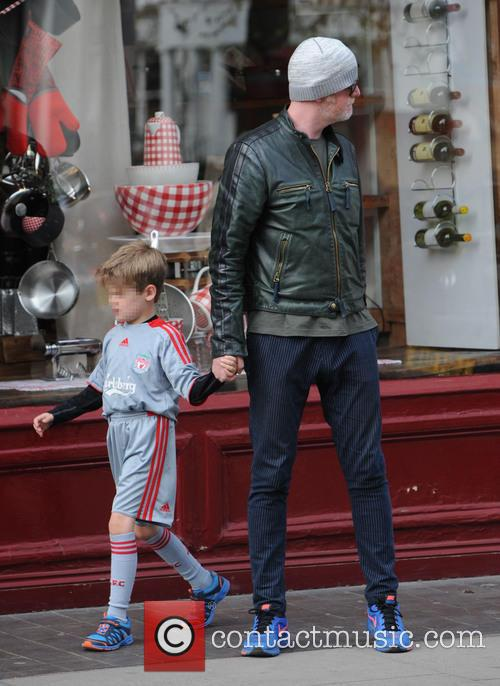 Chris Evans out and about in Primrose Hill