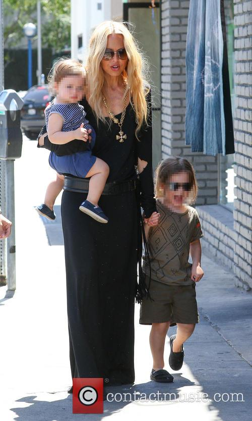 Rachel Zoe takes her kids out for lunch