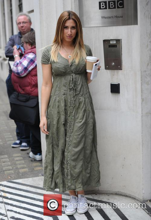 Stacey Solomon seen out at BBC Radio Two