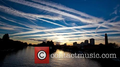 Airplane Contrails 4