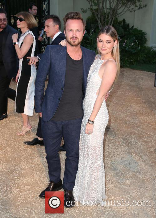 Aaron Paul and Lauren Parsekian 1