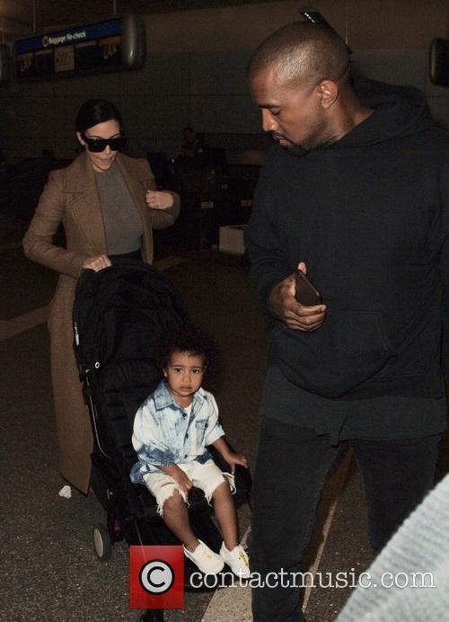 North West, Kanye West and Kim Kardashian 3