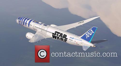 Passenger jet decorated to look like R2-D2