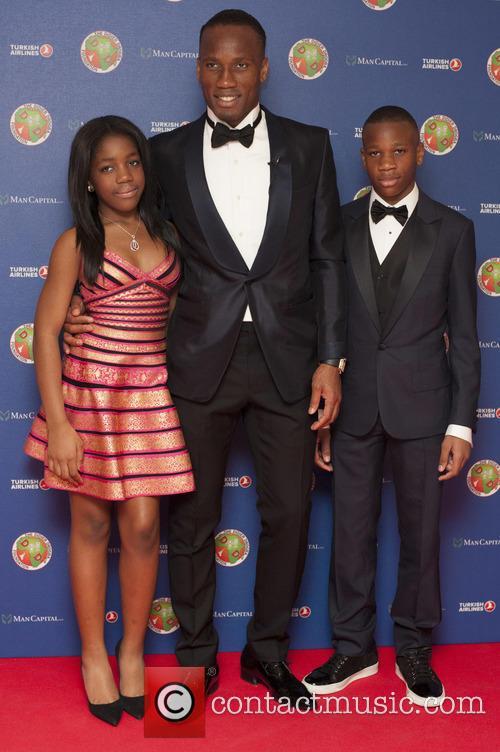 Didier Drogba, Iman Drogba and And Issac Drogba 6