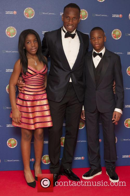 Photo of Didier Drogba & his  Daughter  Iman Drogba