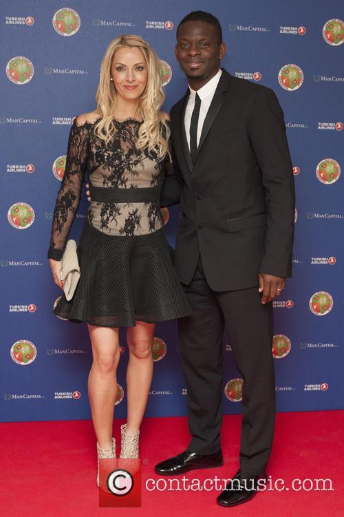 Didier Drogba, Louis Saha and Aurélie Saha 2