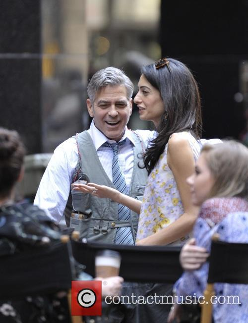Amal Clooney and George Clooney 8