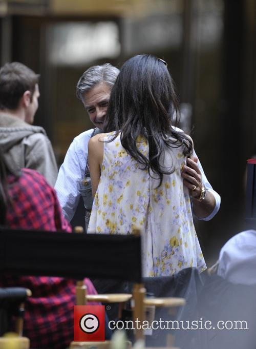George Clooney on location: Money Monster NYC April 18, 2015 Amal-clooney-george-clooney-amal-clooney-visits-her-husband_4684620