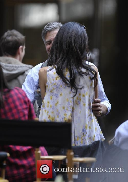 George Clooney on location: Money Monster NYC April 18, 2015 Amal-clooney-george-clooney-amal-clooney-visits-her-husband_4684622