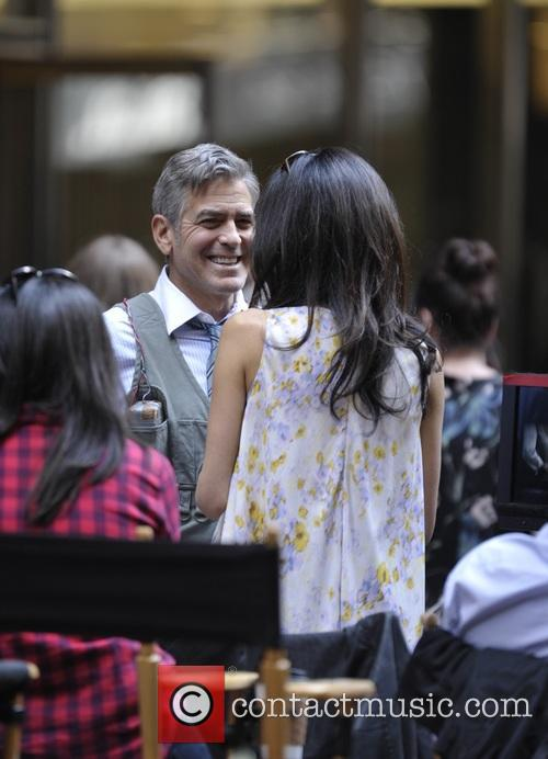 George Clooney on location: Money Monster NYC April 18, 2015 Amal-clooney-george-clooney-amal-clooney-visits-her-husband_4684626