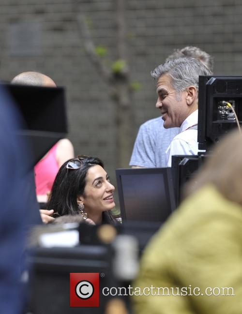 Lenny Venito, George Clooney, Amal Clooney, Jack Oconnell and Jody Foster 5