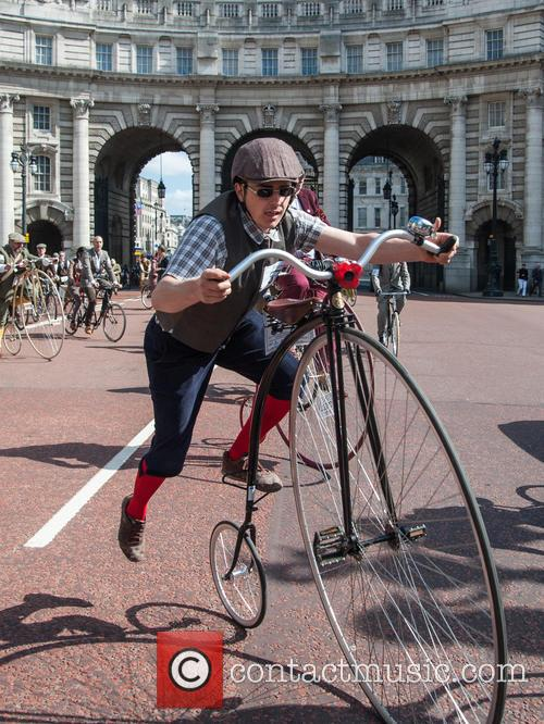 The Tweed Run cycle ride in Central London.